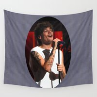 louis tomlinson Wall Tapestries featuring Smiley Louis by clevernessofyou