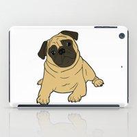 pug iPad Cases featuring PUG by Elena O'Neill