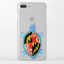 Race Me Home To Maryland Clear iPhone Case