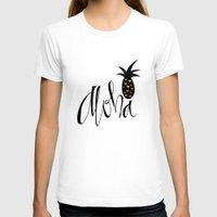 aloha T-shirts featuring Aloha  by mommylhey