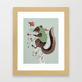 Squirrel Green Hood Framed Art Print