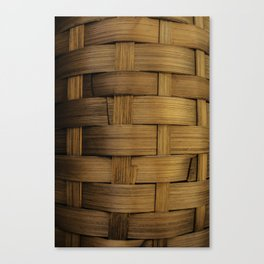 wooden basket Canvas Print