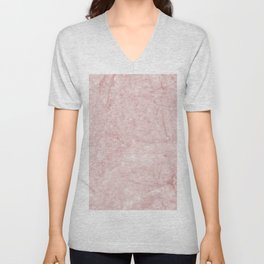 Pretty in Pink Marble Unisex V-Neck