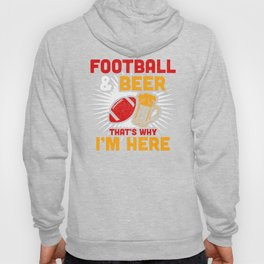 Football and Beer Alcohol Party Present Birthday Design Hoody