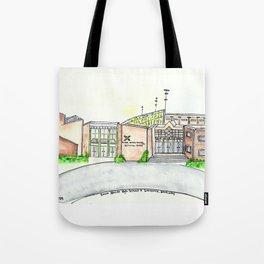 Saint Xavier High School, Louisville, KY. Watercolor Tote Bag