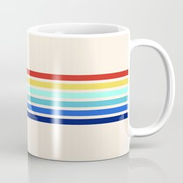 Turling - Classic Colorful 70's Vintage Style Retro Stripes Coffee Mug