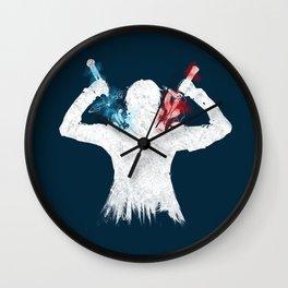 Dual Blades Wall Clock