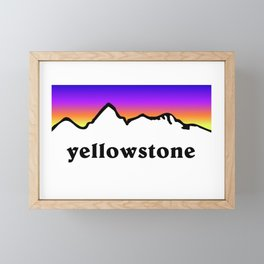 Yellowstone National Park Mountains Framed Mini Art Print