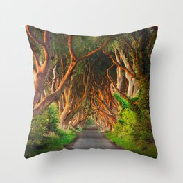 The Dark Hedges - County Antrim - Northern Ireland Throw Pillow