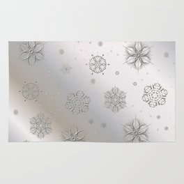 Snow and Silver Rug