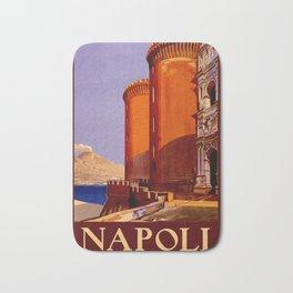 Napoli - Naples Italy Vintage Travel Bath Mat