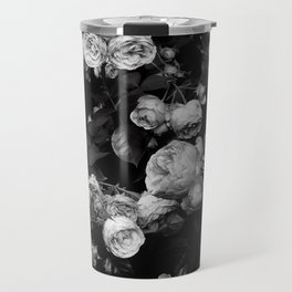 Roses are black and white Travel Mug