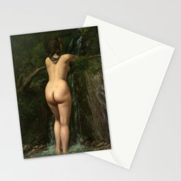 The Source by Gustave Courbet, 1862 Stationery Cards