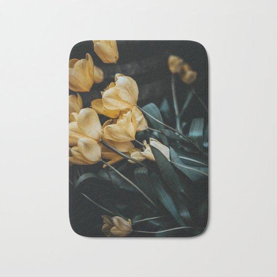 yellow tulips Bath Mat