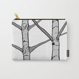 Poplar Tree Illustrated Print Carry-All Pouch