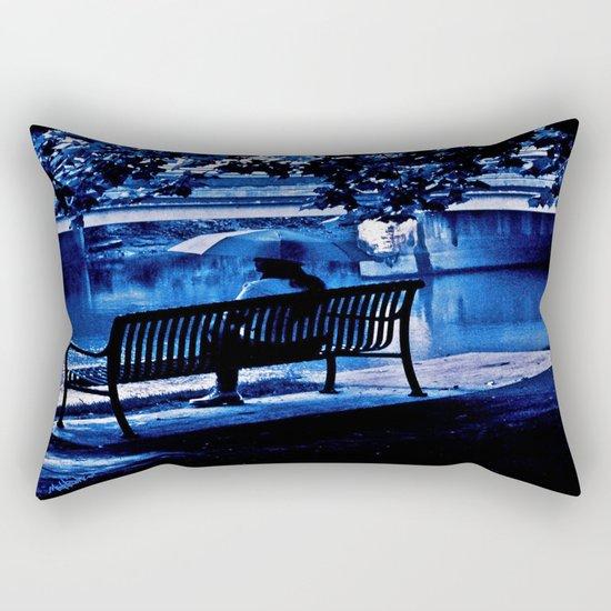 A Blue Morning Rectangular Pillow