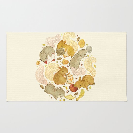 Things Squirrels Probably Shouldn't Be Eating Rug