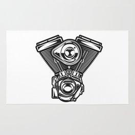 v-rod motorcycle engine harley Rug
