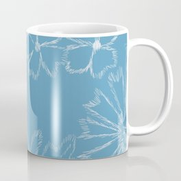 Blue and White Floral Coffee Mug
