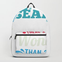 Seahorses underwater sea animal Backpack