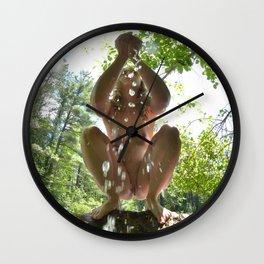 3116-KJ Water of Life Feminine Power Bathing in Nature Pure Water Wall Clock