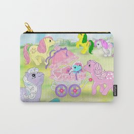g1 my little pony backcard inspired collage Carry-All Pouch