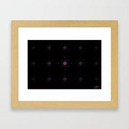 Starburst Grid Framed Art Print