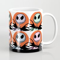 jack skellington Mugs featuring Jack Skellington Pixel Art by Katersbonneville