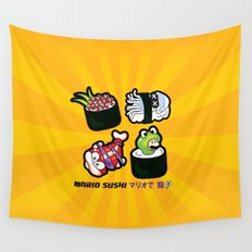 Super Mario Sushi Wall Tapestry