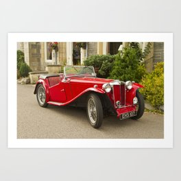 Red Roadster Art Print