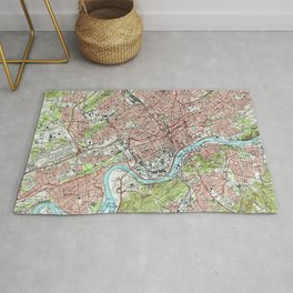 Knoxville Tennessee Map (1978) Rug
