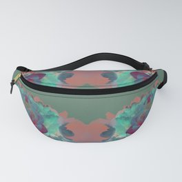 Abstract Mirrored Flower Pattern Fanny Pack