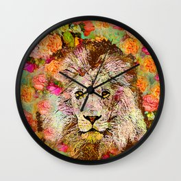 LION AND THE ROSE Wall Clock