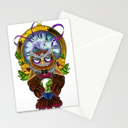New School Owl Stationery Cards
