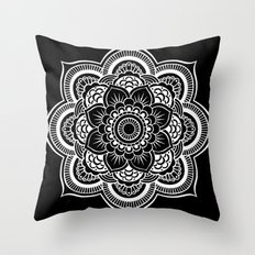 Mandala Black & White Throw Pillow