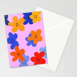 Retro Flower Power Stationery Cards