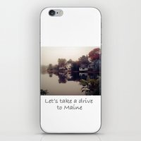 maine iPhone & iPod Skins featuring Maine Fog by KarenHarveyCox