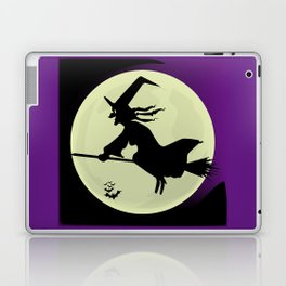 Witch and the Moon Laptop & iPad Skin