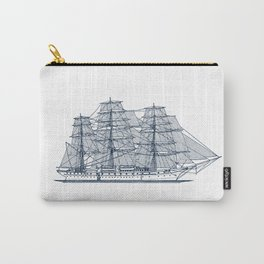 Big Sailing Ship Carry-All Pouch