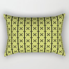 Squares and Stripes in Citrine #pattern #squares #stripes Rectangular Pillow