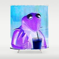 kermit Shower Curtains featuring Lac by GiovZz.