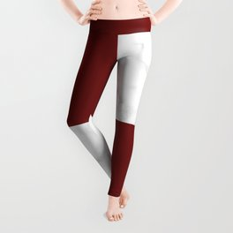 marble and red tiles Leggings