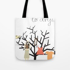 Hung up to dry... Tote Bag