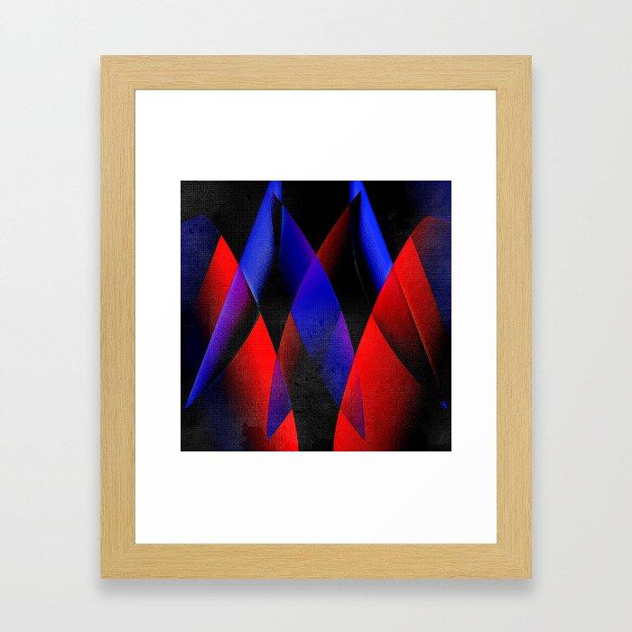 Midnight geometry two Framed Art Print