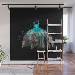 Evening Gown Fashion Illustration #2 Wall Mural