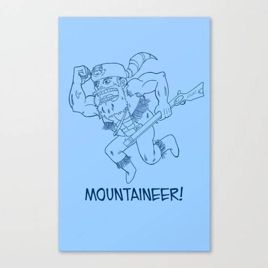 Mountaineer! (blue) Canvas Print