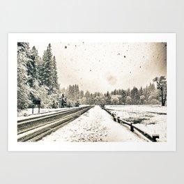 Yosemite Snowy Meadow Art Print
