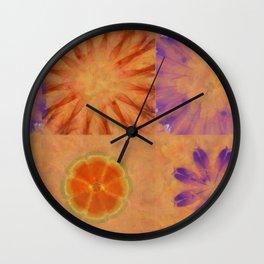 Triumvirs Unconcealed Flower  ID:16165-043712-23190 Wall Clock