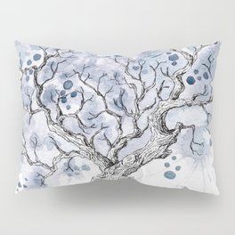Watercolor winter tree Pillow Sham