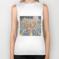 inception Biker Tanks featuring Concerted Inception by Eric Walker